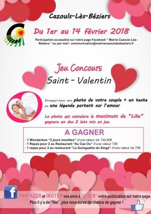 Jeu Concours / Saint-Valentin