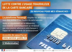 PERCEV@L - service pour signaler les fraudes à la carte bancaire sur internet