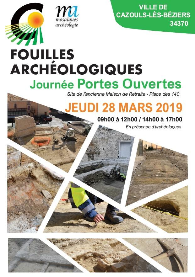 Journée Portes Ouvertes - Chantier fouilles archéologiques