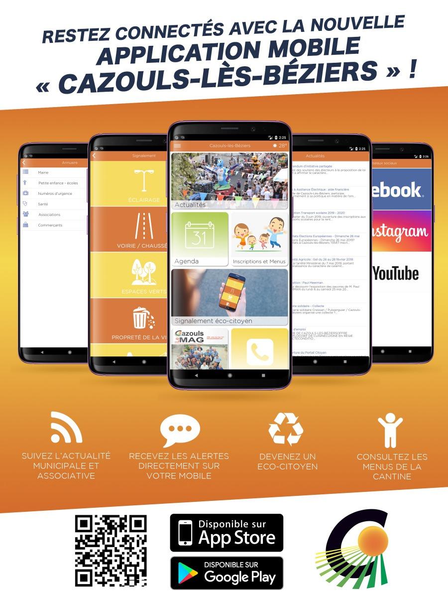 Application mobile Cazouls !