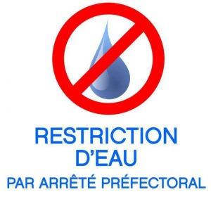 Restriction des usages de l'eau dans le cadre de la gestion de la sécheresse