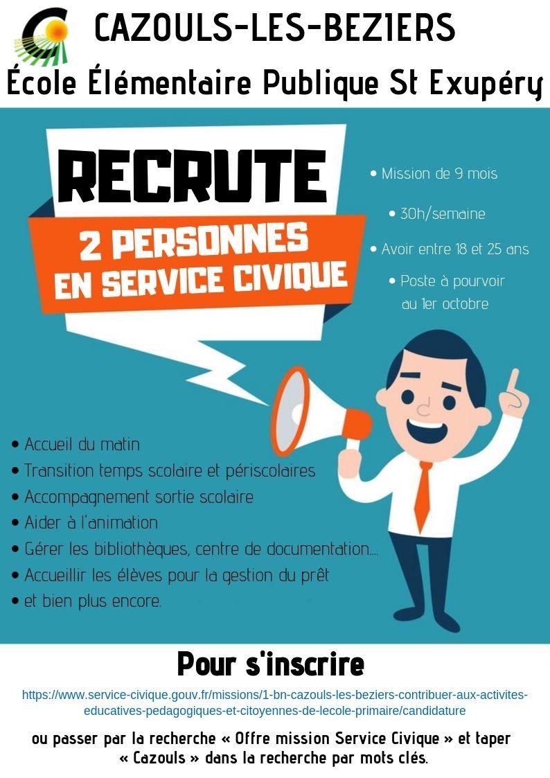 Service Civique - Recrutement
