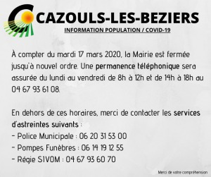 COVID-19 - Informations diverses