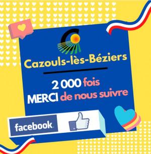 Merci aux 2 000 fans de notre page facebook !