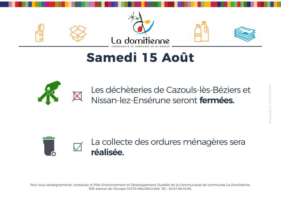 La Domitienne - Information samedi 15 août 2020