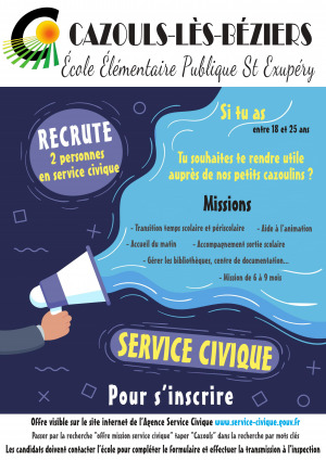 Service civique - recrutement 2020