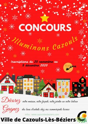"""Concours  """"Illuminons Cazouls"""""""