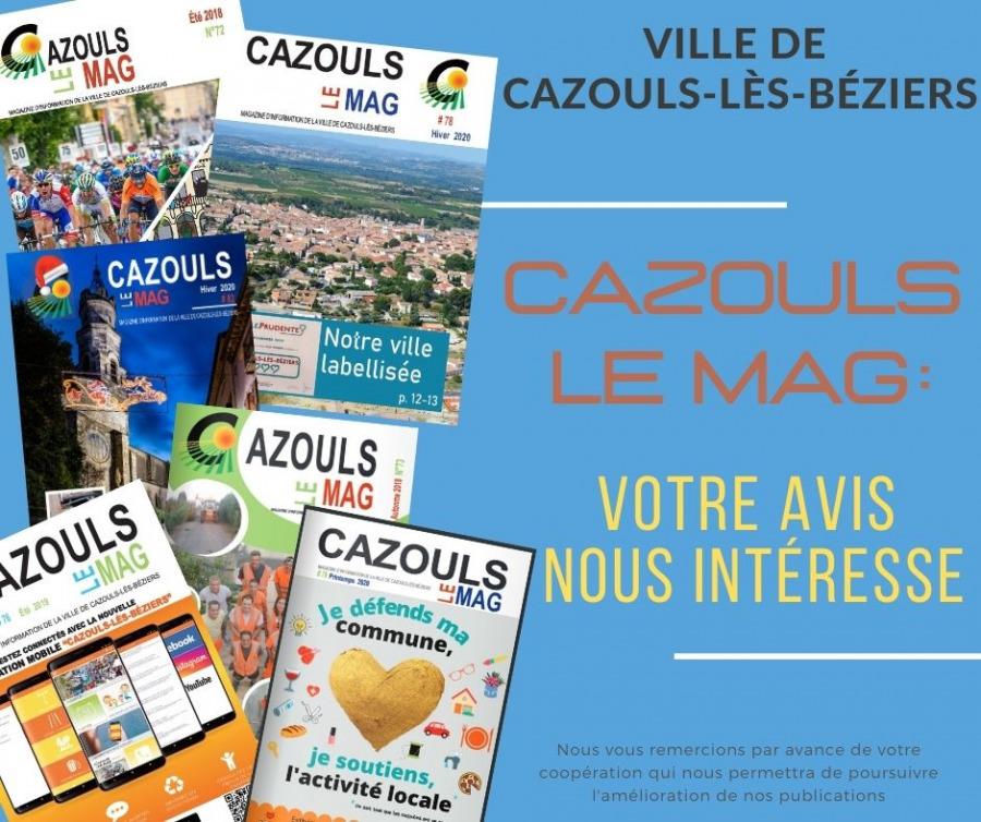 Cazouls le Mag : votre avis nous intéresse !