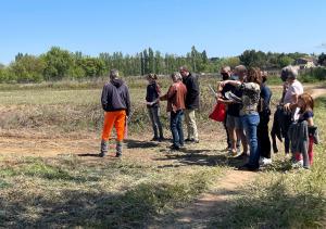 Projets de jardins familiaux et régie agricole : visite sur site