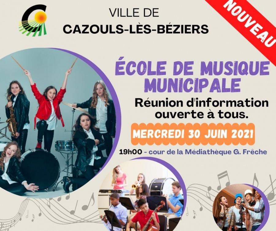Ouverture école de musique municipale - réunion d'information