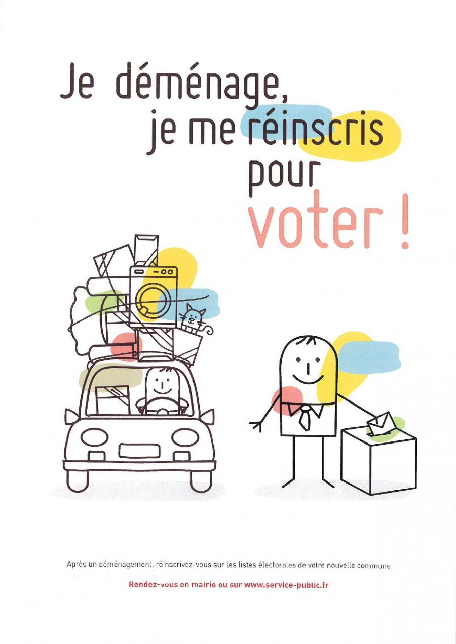 Élections - Je déménage je me réinscris pour voter !