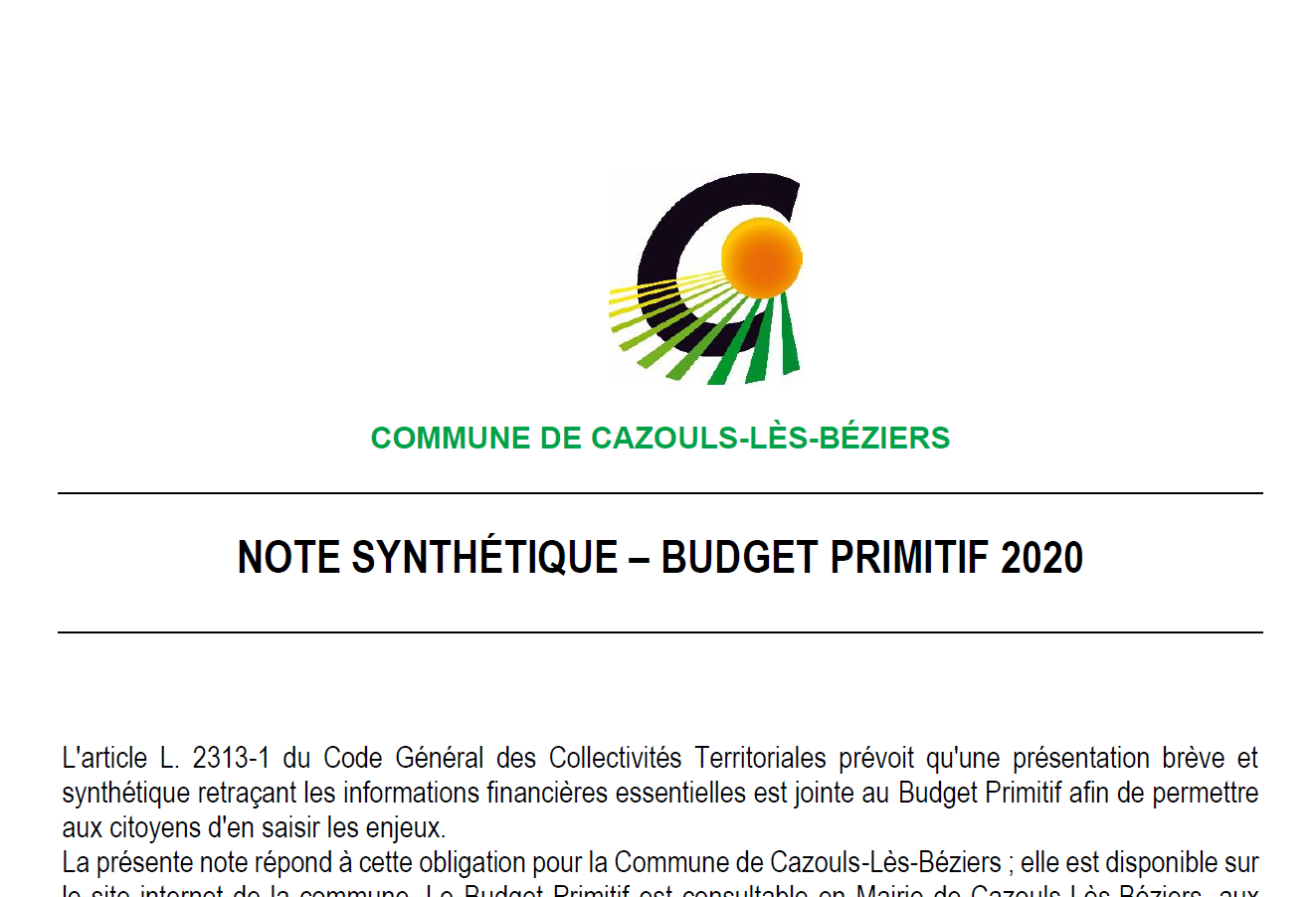 note synthèse 2020