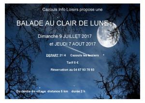 Balade au clair de Lune - Cazouls Info Loisirs