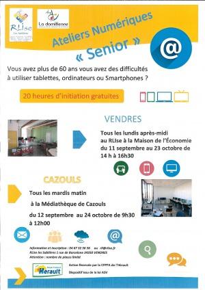 """Ateliers numérique """"SENIORS"""""""