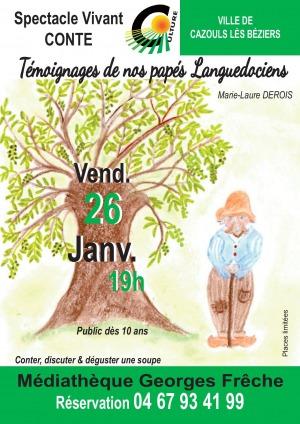 """Autour d'un livre - """"Témoignages de nos papés Languedociens"""" de M.L Derois"""