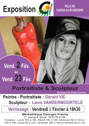 Exposition - Gérald VIE & Lieve VANDERMOORTELE