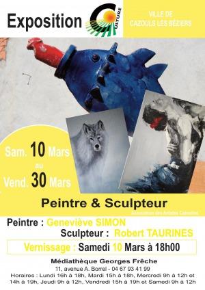 Exposition - Geneviève SIMON & Robert TAURINES