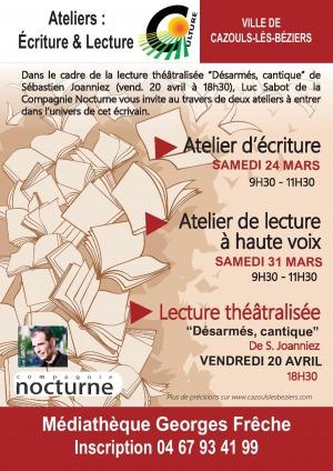 """Lecture théâlisée - """"Désarmés, cantique"""""""
