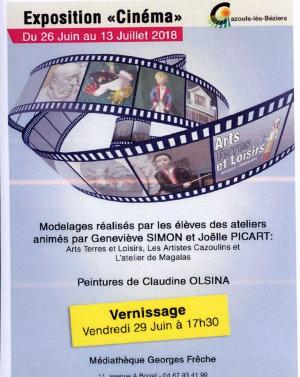 Exposition sculptures - Thème le Cinéma