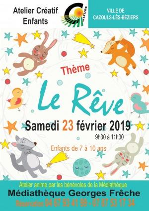 """Atelier créatif pour enfants """"le Rêve"""""""