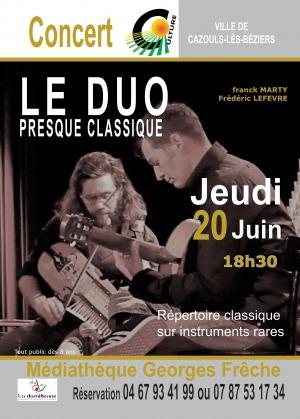 CONCERT - Le Duo presque classique