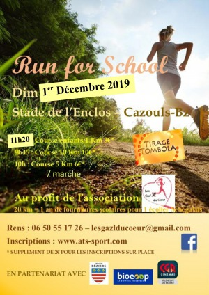 Course solidaire - Run For school - les Gaz'L du coeur