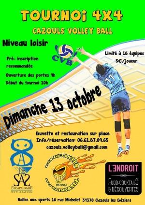 ANNULÉ - Volley Ball : Tournoi 4 x 4 - ANNULÉ