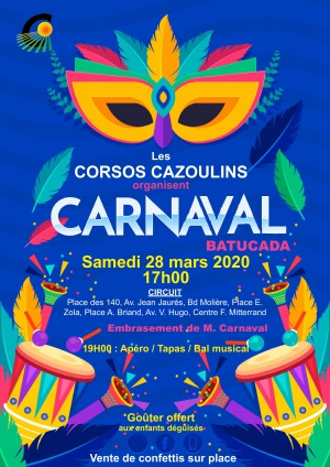 ANNULÉ - Carnaval - Corsos Cazoulins