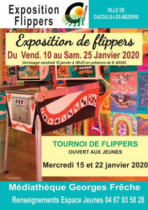 Exposition de flippers
