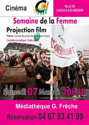 Projection cinéma - Semaine de la femme