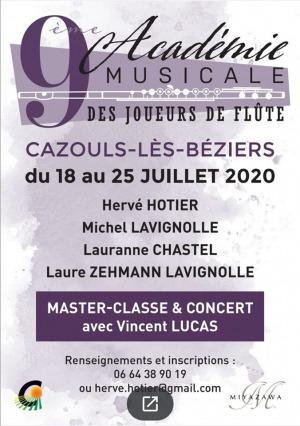 ANNULÉ - 9ème Académie des Joueurs de flûte