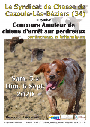 ANNULE - Concours de chiens d'arrêt - Syndicat de Chasse
