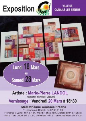 ANNULÉ - Exposition - Marie-Pierre LANDOL