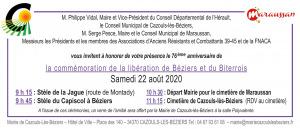 Commémoration de la libération de Béziers et du biterrois