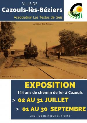 """Exposition """"144 ans de chemin de fer à Cazouls"""""""